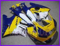 Comression Mold For Honda CBR600 F2 Customized yellow blue ABS Fairing for CBR600F2 91 92 93 94 Body Kit Fairing for Honda CBR600 CBR 600 F2 1991 1992 1993 1994 AF