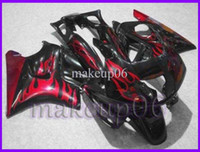 Comression Mold For Honda CBR600 F3 Customized black red flames CBR600F3 91-94 91 92 93 94 ABS Fairings Body Kit Fairing for Honda CBR600 CBR 600 F3 95 96 ABS Plastic
