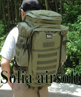 Wholesale Green army molle backpack big capacity outdoor travel rifle hunting bag