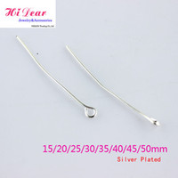 Wholesale Silver Sterling Eye Head Pins Metal Jewellery DIY Findings Beadings mm pack Packs pcsx by EMS