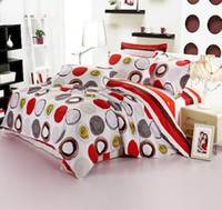 Adult Twill Bed in a bag Fashion 100% Cotton Flowers Printing Bedding Covers 4pcs Set Full Queen King Size Quilt Cover Pillowcases Bed Sheet
