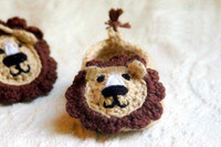 Unisex baby lion for sale - Hot Sale Baby crochet shoes Crochet Pattern for Baby Booties Baby Bear House Slippers boys Lion sandals infant Round Bunny Walker Shoes