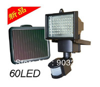 IP65 Garden  Free shipping!!! 2013 Updated Single Crystal Solar Panel Solar Sensor Light 60 Bright LED Bulbs And PIR Sensor Included
