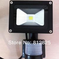 Lámpara infrarroja pasiva del sentido de la inducción del reflector del LED de la inundación del sensor de movimiento de DHL Free + 3PC / Lot 10W PIR 85 ~ 265V