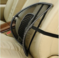 Wholesale new New Car Seat Chair Massage Back Lumbar Support Mesh Ventilate Cushion Pad Black Retail And