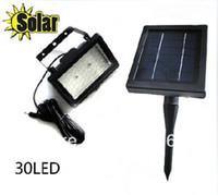 IP65 Garden  Freeshipping Solar powered garden floodlight ,outdoor 30LED solar light-operated street spotlight
