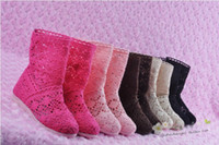 Wholesale Bran new Fashion girl s children s Knitting Knitted hollow ankle Shoes Casual Sandals Boots summer autumn low short boots