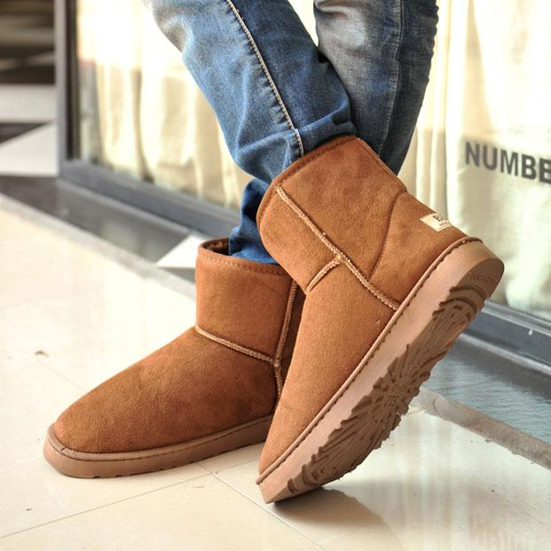 Winter Snow Boots Men Thermal Cotton Padded Shoes Winter Slip ...
