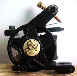 7624 Hand made Cast Iron star Tattoo Machine Gun 10 wrap coils Shader Liner Free Shipping