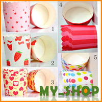 Wholesale 5 Color Cake paper cups Cupcake medium heat Muffin cup mechanisms hot Bakeware JJ0909