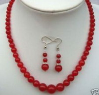 Wholesale 6 mm Red Ruby Round Beads Necklace Earrings quot