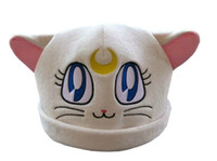 Wholesale Sailor Moon White Cat Luna Plush Hat Costumes Cosplay retail