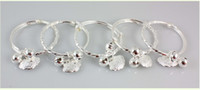 Other Children's  5pcs Baby child silver Plated bangles jingle bell charms girls or boys gift