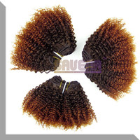 Cheap Hot Selling New Ombre Hair Brazilian Hair Weft Kinky Curly Brazilian Hair 1B-33color Queen Hair Products