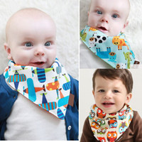 Wholesale Baby Bandana Scarf Bibs Feeding Clear Triangle Cotton Kid Head Scarf Infant Bibs Burp Cloths BB67