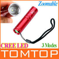 other 450lm LED Flashlight Mini CREE LED Flashlight Torch 500Lm 3-mode Adjustable Focus Zoom LED Flash Light Lamp USE AA or 14500 battery Free Shipping H9431R