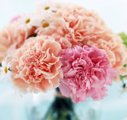 Wholesale HOT cm quot Length Handmade Artificial Silk Flowers Simulation Single Carnation Wedding Flower