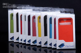 Wholesale Flip Leather Case Cover Open Window Official for Samsung Galaxy S4 SIV i9500 with Retail Package mixed colors