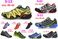 Wholesale 2013 NEW Salomon Speedcross Running Shoes Men s Walking Outdoor Shoes Salomon Barefoot shoe men sport shoes cheap shoe sneakers
