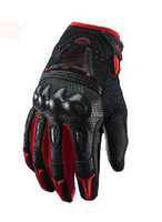 Fashion motorbike gloves - MOTO Racing gloves Motorcycle Gloves motorbike gloves leather gloves FOX Bomber gloves made of Carbon fiber with black red color size M L XL