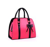 fashion tote bags - 2014 Newest Women Elegant Handbags Fashion Bags Candy Color Bowknot Handbags Shoulder Bag Lady Totes H9935