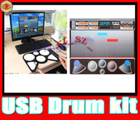Electronic drum - NEWEST USB Roll Up Electronic Drum Pad Set usb drum PC Desktop USB Roll Up Digital Drum Pad Kit w DrumStick