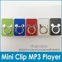 accessories card reader digital - DHL New arrival Mini Clip MP3 Cartoon MP3 player Digital Music Player No accessory Colors