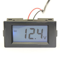 Wholesale 5 DC Volts Measure Meter DC V Blue LCD DC Voltage Digital Panel Meter DC V V V Voltmeter