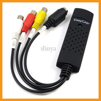Wholesale High Quality Easycap USB TV DVD VHS Video Audio Capture Edit Adapter Easycap USB DVR