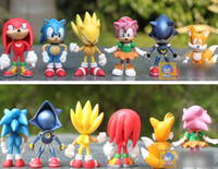 Wholesale 6pcs set int cm SEGA sonic the hedgehog Figures toy pvc toy sonic Characters figure toy retail