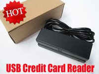Wholesale USB Mini Credit Card Reader Track Hi Lo Co Magnetic Mag Swiper POS Cashier MSR with retail box