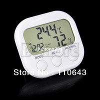 Wholesale Indoor Digital Thermometer Hygrometer Clock KS White TK0440