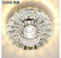Wholesale 2015 New Real No Brand v Specialty Led To Absorb Dome Light Crystal Lamp Porch Corridors Cl9095 Hallway Lighting Tube Lamps And Lanterns