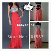 name brand evening dress - custom made real sample sexy pink sweetheart rhinestone beaded chiffon evening gown name brand prom dresses LF17809