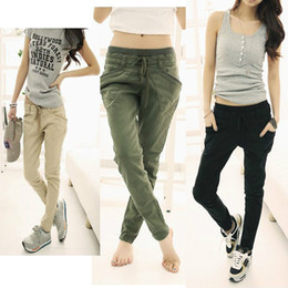Wholesale High Quality Autumn Women Wild Stretch Slim Feet Harem Pants