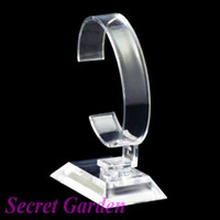 Jewelry Jars watch display stand - High Quality Clear View Plastic Watch Display Stand Holder T1108