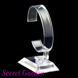 Wholesale 15 High Quality Clear View Plastic Watch Display Stand Holder T1108