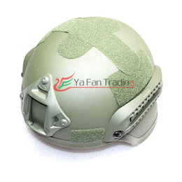 Wholesale Mich Combat HELMET For Airsoft With Build in ARC Rail Adapter NVG Mount Army Green