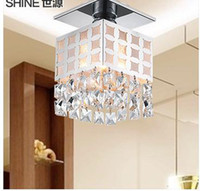 Wholesale 2015 Rushed Modern Fashion To Absorb Dome Light corridor Lights Sitting Room Lighting Lamps And Lanterns Crystal Lamp Droplight Cl9058