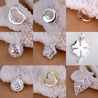 Charms   Multi Styles 925 Sterling Silver Cute Fashion Pendants New Lovely Pendant Fit Necklace 50pcs Mixed