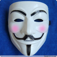 Wholesale guy fawkes V vendetta team pink blood scar masquerade masks Halloween carnival Mask adult size WY26 p