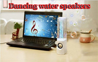 2 cheap mini computer - Cheap Mini Water Speaker Colorful Water drop Show Sensor with LED Lamp Light Dancing Speaker free DHL factory price