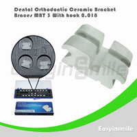 No No Manual Dental Orthodontic MBT Ceramic Bracket Brace 3 with Hook 0.018