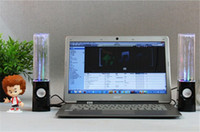 2 Universal Computer Cheapest LED Dancing Water Show Music Fountain Light Mini Computer Speakers For Laptop free DHL