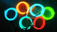 Wholesale 100M Flexible Neon Light EL Wire Rope Tube Car led light christmas lights