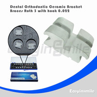 No No Manual Dental Orthodontic Roth Ceramic Bracket Brace 3 with Hook 0.022