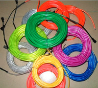 Wholesale 10M Car Party Decoration Flexible EL Glow Wire Rope Neon Light Tube with Controller