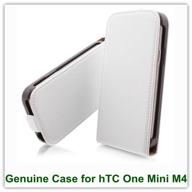 Buy 10EMS/DHL Genuine Leather Black White Back Skin Covers Case hTC One Mini M4