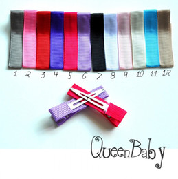 Wholesale 1 Inch Partly Lined Hair Clip Single Prong Alligator Hair Clip DIY Crafting Queenbaby