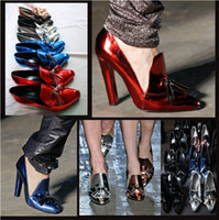 Wholesale 2015 New Fashion Lady Pumps Pointed Toe Nightclub High Heel Shoes Woman Shoes Spring Autumn Pumps Party Dress Shoes